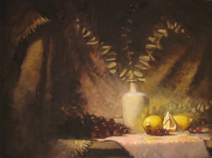 composition in purple and lemon by Richard Hearns